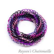 Load image into Gallery viewer, Pink Infinity Rose Mini Chainmail Fidget Toy - Rayven's Chainmaille