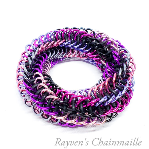 Pink Infinity Rose Mini Chainmail Fidget Toy - Rayven's Chainmaille