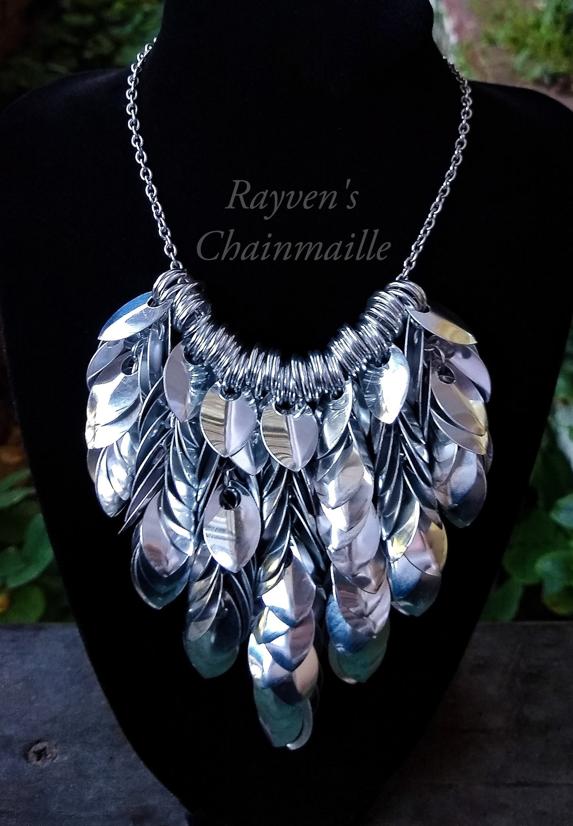 Scalemaille Bib Necklace - Rayven's Chainmaille