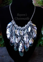 Load image into Gallery viewer, Scalemaille Bib Necklace - Rayven's Chainmaille