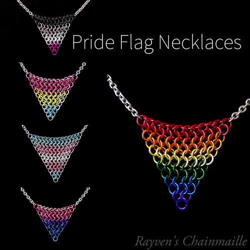 Pride Flag Chainmaille Necklaces - Rayven's Chainmaille