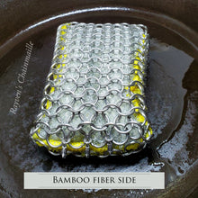 Load image into Gallery viewer, Rayven's Chainmaille| Large Chainmail Stainless Steel Kitchen & Grill Sponge Scrubber