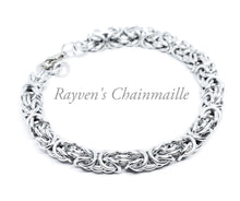 Load image into Gallery viewer, Silver Byzantine Chainmail Bracelet - Rayven's Chainmaille