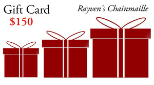 Rayven's Chainmaille Gift Cards $150