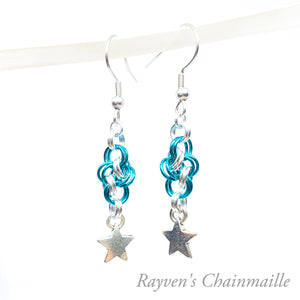 Cloudy Night Chainmaille Earrings - Rayven's Chainmaille