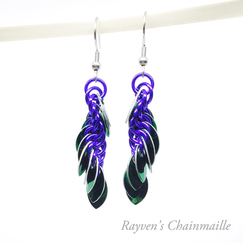 Punk Scale Chainmaille Earrings - Rayven's Chainmaille