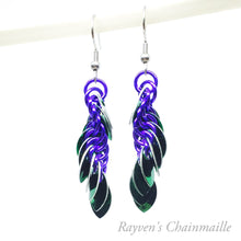 Load image into Gallery viewer, Punk Scale Chainmaille Earrings - Rayven's Chainmaille