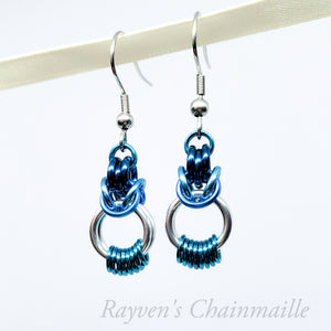 Looped Byzantine Chainmail Earrings - Rayven's Chainmaille