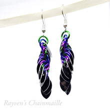 Load image into Gallery viewer, Punk Scale Chainmail Earrings - Rayven's Chainmaille