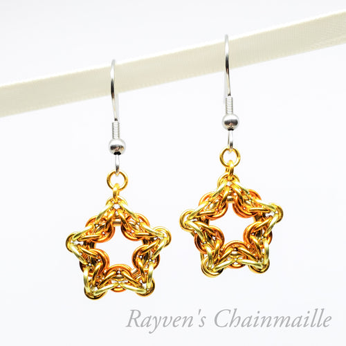 Celtic Star Chainmaille Earrings - Rayven's Chainmaille