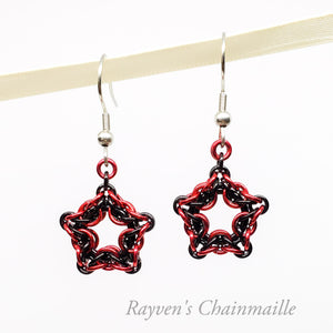 Celtic Star Chainmail Earrings - Rayven's Chainmaille