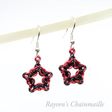 Load image into Gallery viewer, Celtic Star Chainmail Earrings - Rayven's Chainmaille Antifa