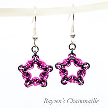 Load image into Gallery viewer, Celtic Star Chainmail Earrings - Rayven's Chainmaille