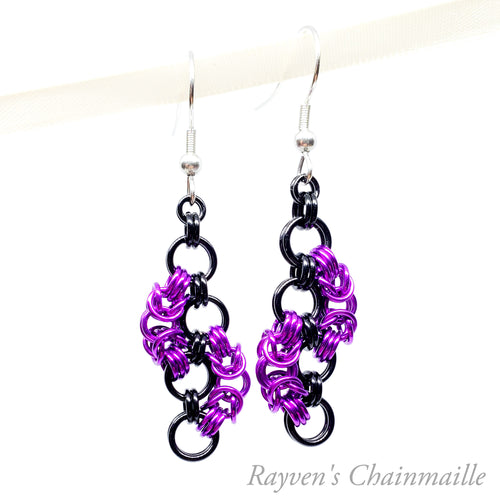 Urban Warfare Chainmail Earrings - Rayven's Chainmaille