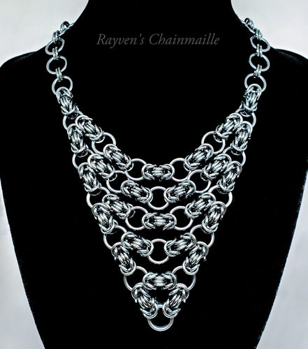 Unlawful Assembly Byzantine Chainmaille Necklace - Rayven's Chainmaille
