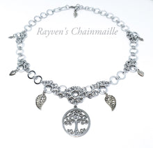 Load image into Gallery viewer, Forest Lore Chainmail Necklace - Rayven's Chainmaille