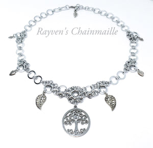 Forest Lore Chainmail Necklace - Rayven's Chainmaille