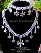Load image into Gallery viewer, Snowflake Charm Two Piece Jewelry Set - Rayven's Chainmaille