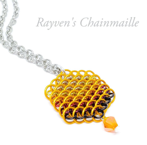 Honeycomb Hex Chainmail Necklace - Rayven's Chainmaille