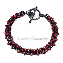 Load image into Gallery viewer, X Helm Chainmail Bracelet - Rayven's Chainmaille