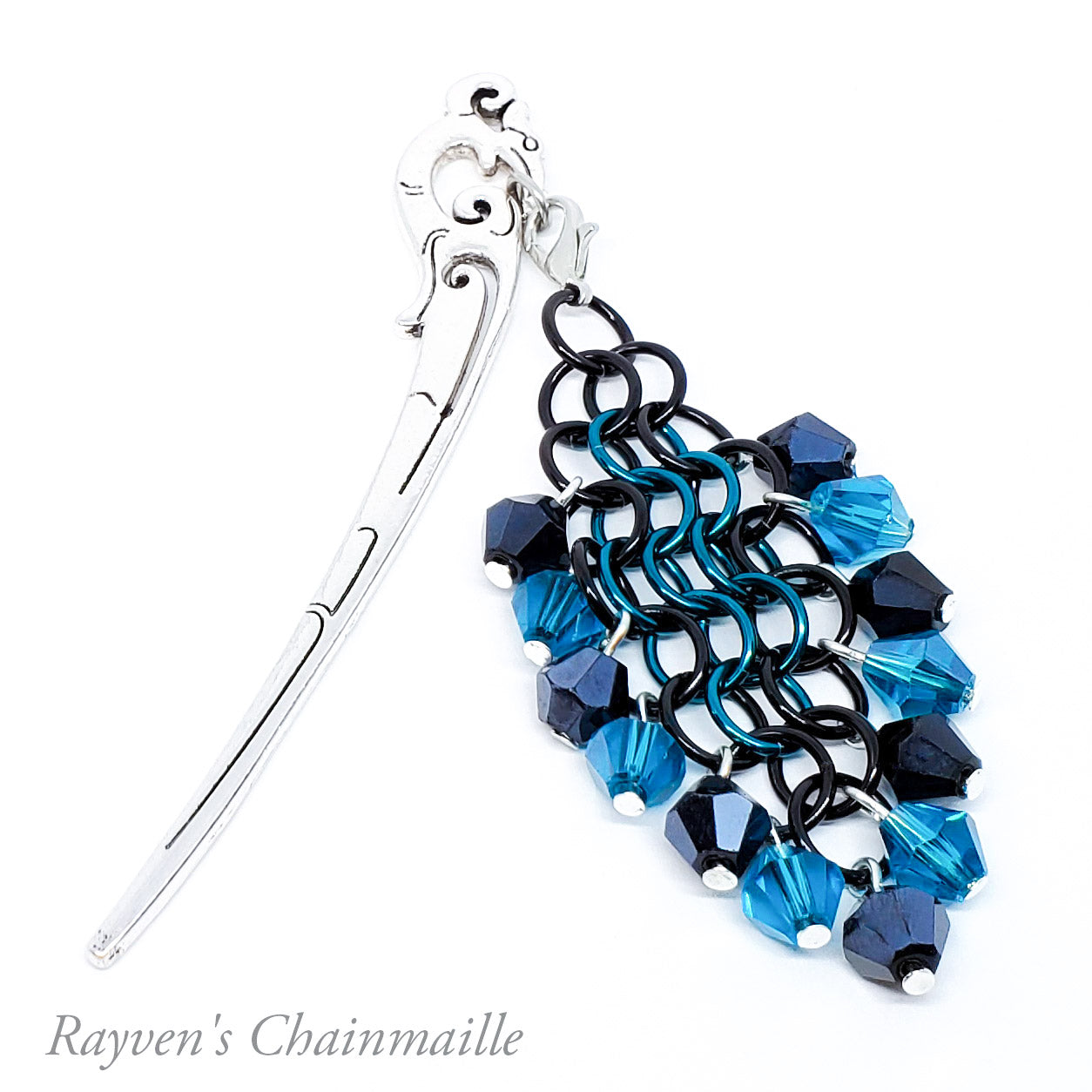 Rayven's Chainmaille| Hair Stick Rainbow Chainmail Decorative Dangle Hair Accessory