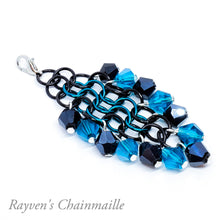 Load image into Gallery viewer, Rayven's Chainmaille| Hair Stick Rainbow Chainmail Decorative Dangle Hair Accessory