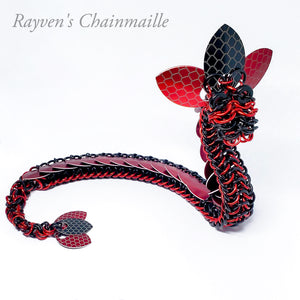 Ruby Chainmail Dragon Sculpture - Rayven's Chainmaille