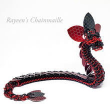 Load image into Gallery viewer, Ruby Chainmail Dragon Sculpture - Rayven's Chainmaille