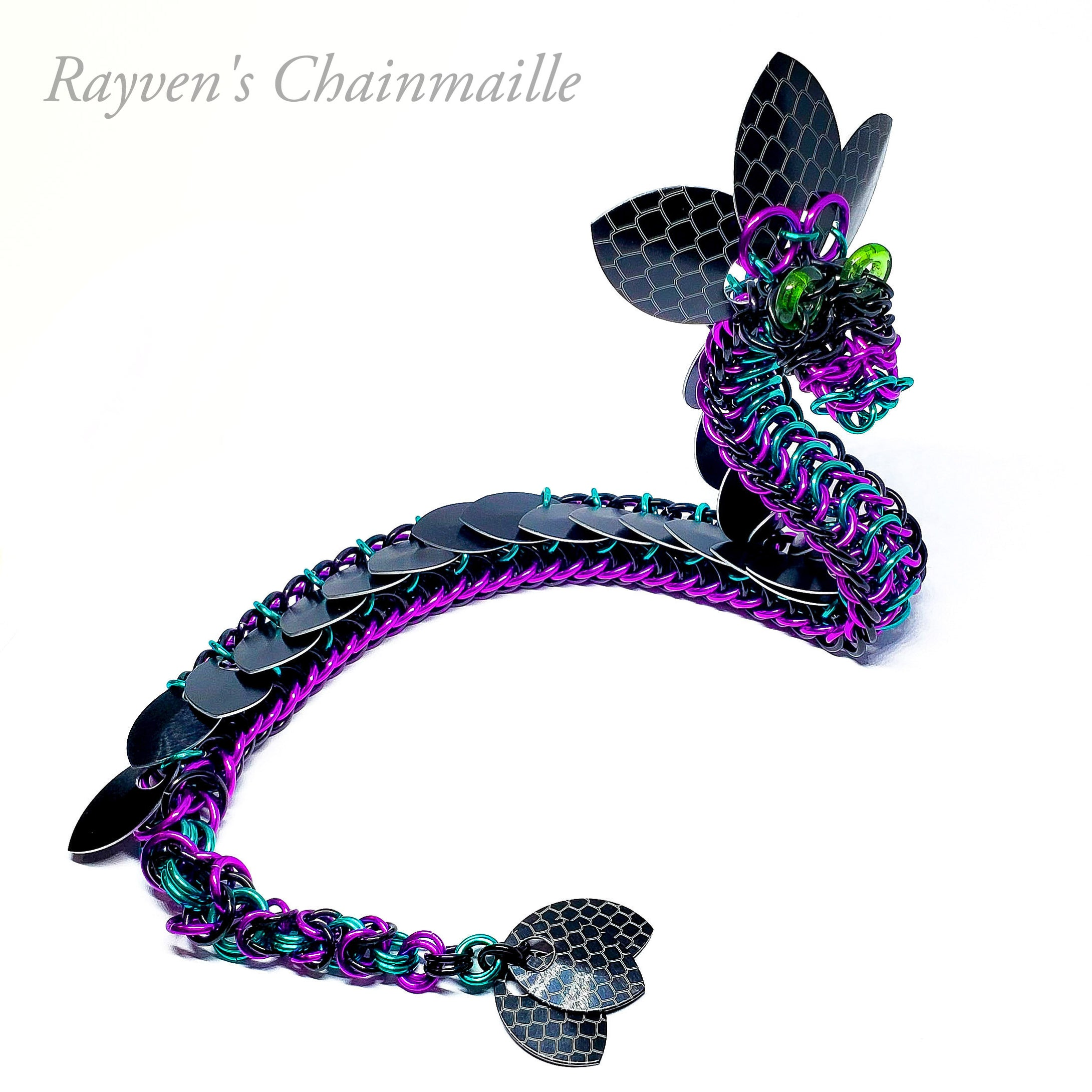 Cosmo Chainmail Dragon Sculpture - Rayven's Chainmaille