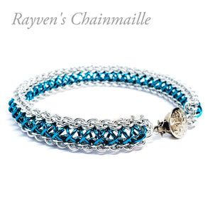 Micro Raven's Braid Chainmail Bracelet - Rayven's Chainmaille