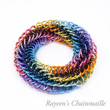 Load image into Gallery viewer, Infinity Rose Mini Chainmail Fidget Toy - Rayven's Chainmaille