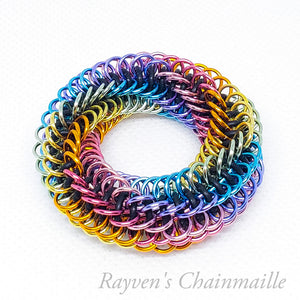 Infinity Rose Mini Chainmail Fidget Toy - Rayven's Chainmaille