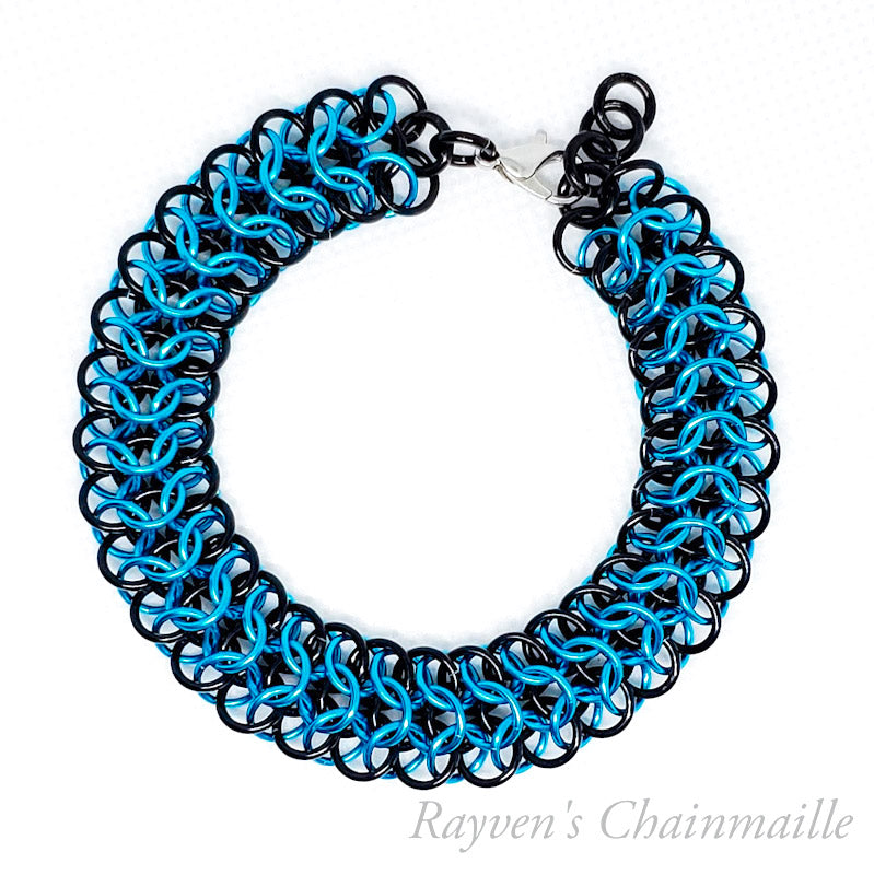 Slinky Interwoven Chainmail Bracelet - Rayven's Chainmaille