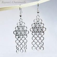 Load image into Gallery viewer, Beaded Serenity Chainmail Earrings - Rayven's Chainmaille