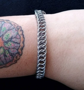 Stainless Steel Half Foxtail Chainmaille Bracelet - Rayven's Chainmaille