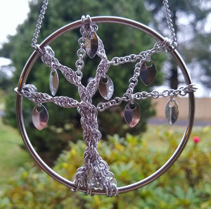 Tree of life Yggdrasil Chainmaille Wall Art - Rayven's Chainmaille