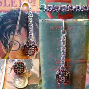 Brown Owl Chainmaille Bookmark - Rayven's Chainmaille
