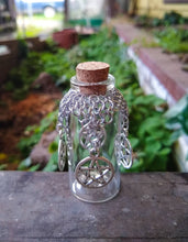 Load image into Gallery viewer, Pentacle Charm Chainmaille Wishing Bottle - Rayven's Chainmaille