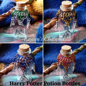 Rayven's Chainmaille| Harry Potter Slytherin House Chainmaille Potion Bottles