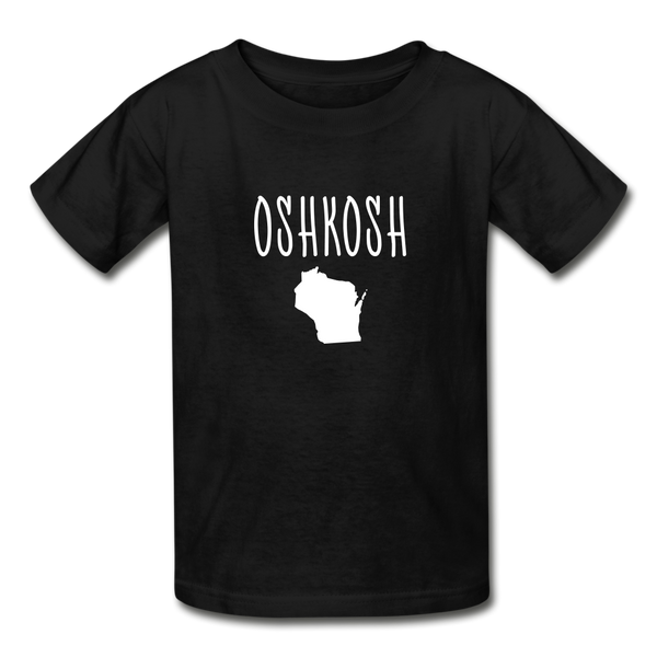 Oshkosh WI Youth T-Shirt - black