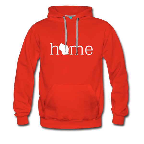 Wisconsin Home Men's Hoodie - red