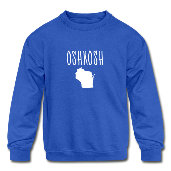 Oshkosh WI Kids' Crewneck Sweatshirt - royal blue