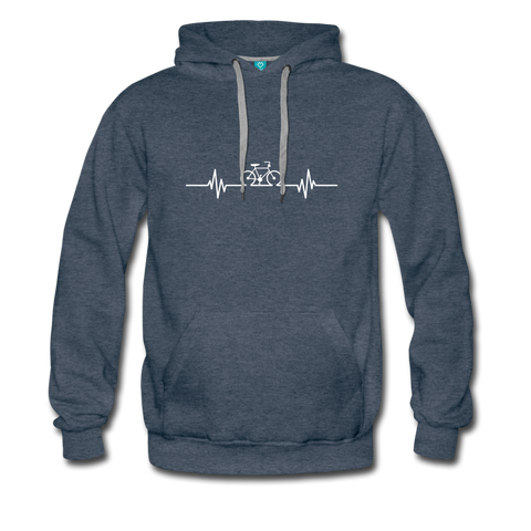 Love To Bike Unisex Hoodie - heather denim