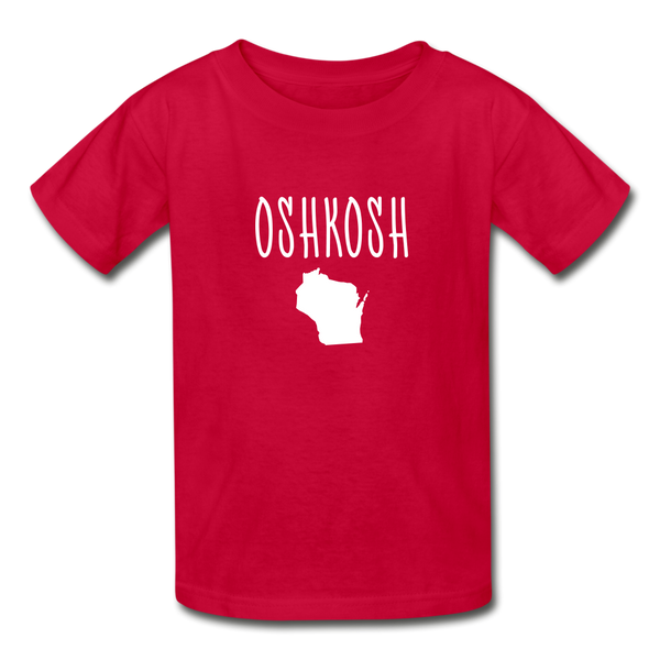 Oshkosh WI Youth T-Shirt - red