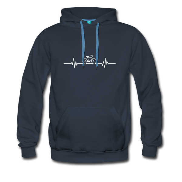 Love To Bike Unisex Hoodie - navy