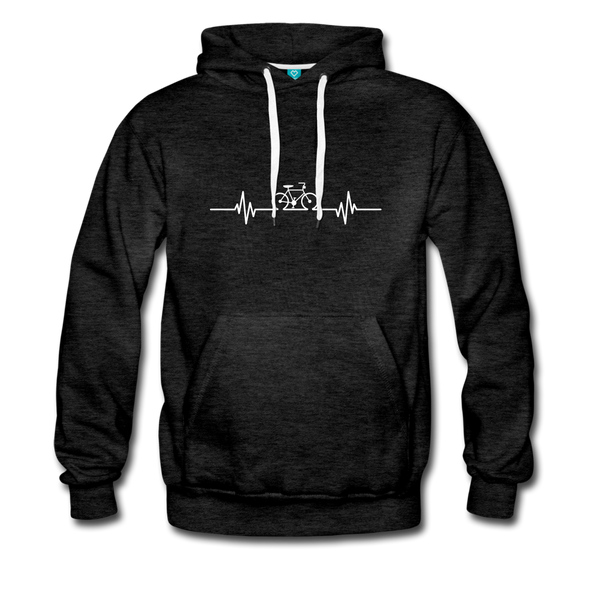 Love To Bike Unisex Hoodie - charcoal gray