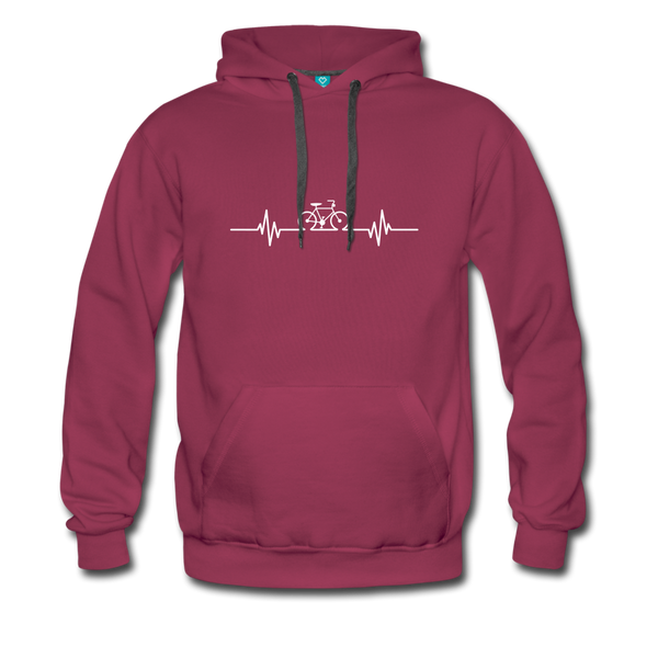 Love To Bike Unisex Hoodie - burgundy