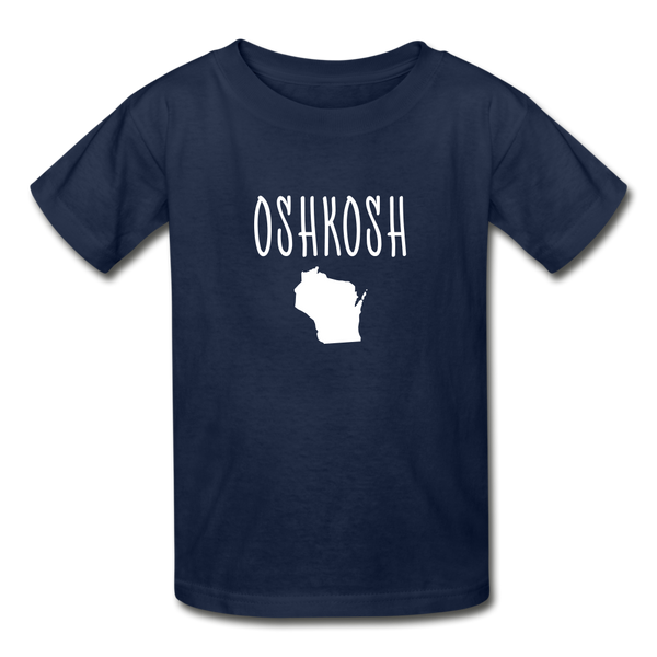 Oshkosh WI Youth T-Shirt - navy