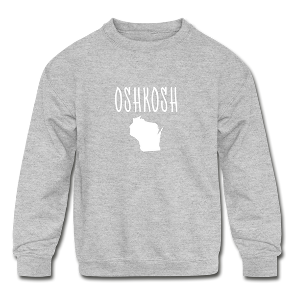 Oshkosh WI Kids' Crewneck Sweatshirt - heather gray