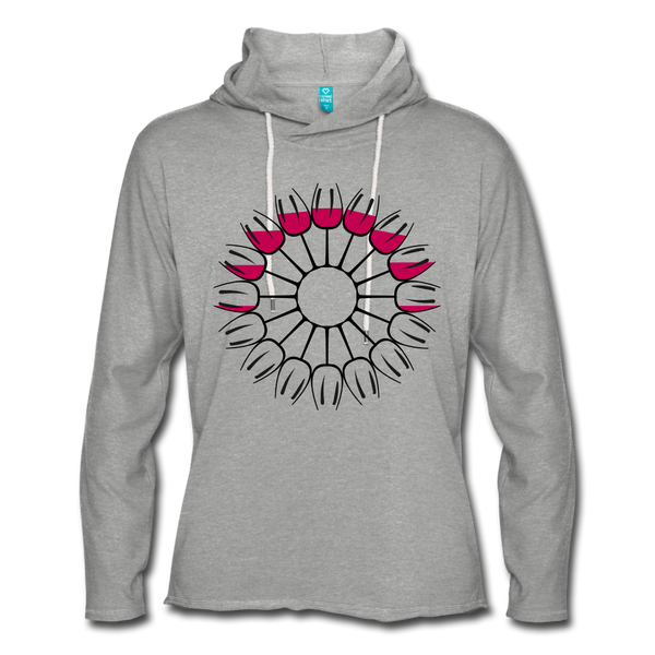 Circle of Wine Terry Hoodie - heather gray